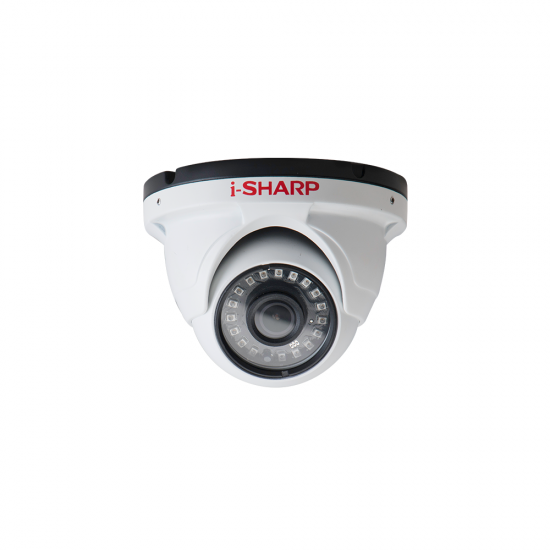i-SHARP SH-f30-WD2, 2.5mp, TRUE WDR, 2.8mm Dome Metal, Night Vision up to 25m